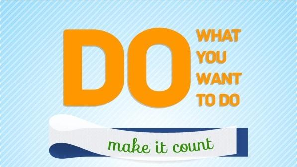 Do What You Want to Do, Not What You Think You Should Do