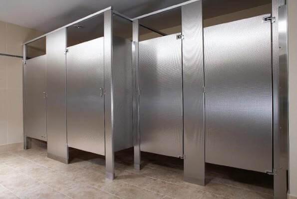 Finished bathroom doors